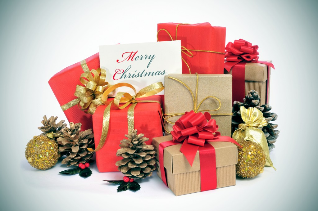 Image of Christmas presents stored in a storage unit preventing snooping children.