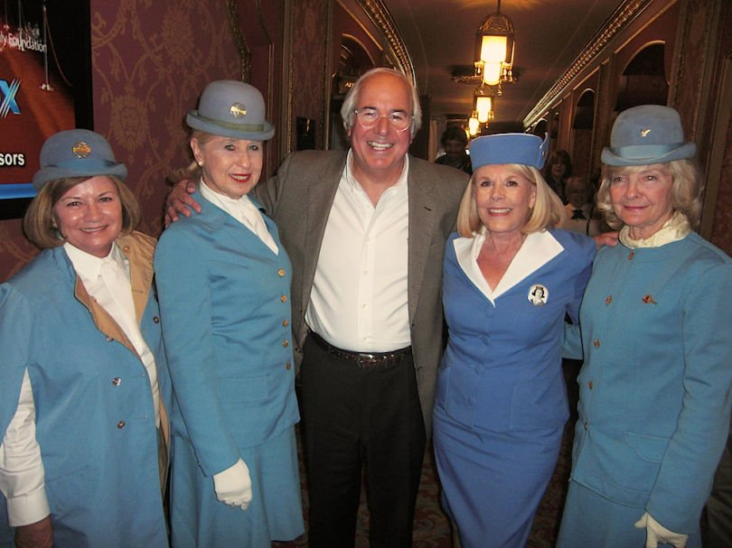 Image of Frank Abagnale with air hostess's from his early days as an 'imposter'