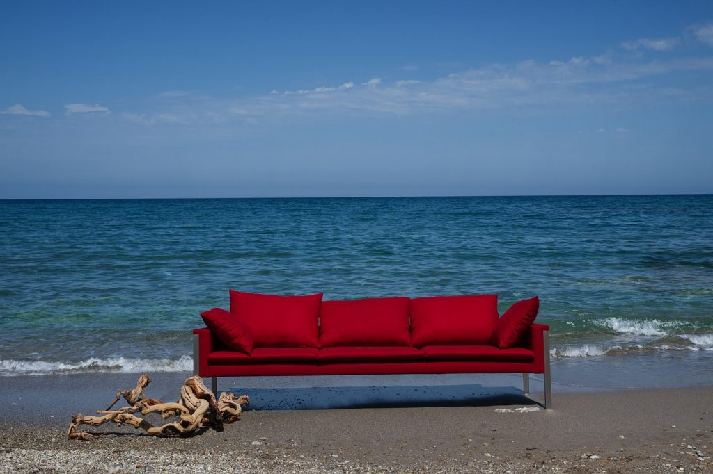Taking your couch on holiday isn't the most practical of ideas