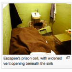 Image showing Frank Morris's actual cell at Alcatraz.