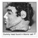 Image showing the actual Paper head of Frank Moris used in the escape from Alcatraz